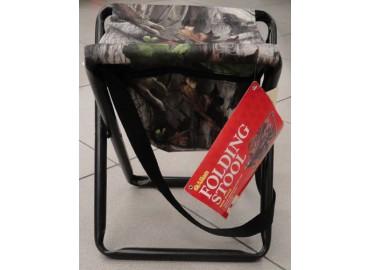 STOOL FOLDING STEEL CAMO W/POUCH-складной стул без спинки