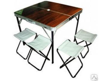 Стол раскладной + 4 табурета Green Way MDF