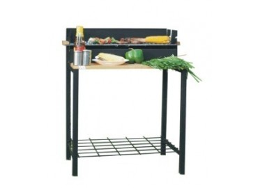 Charcoal bbq grill 80*44*82cm, black painted, мангал