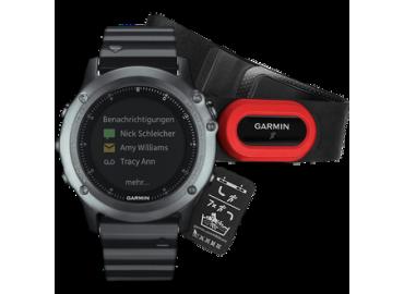 Часы Garmin Fenix 3 HRM Sapphire c металлическим браслетом и пульсометром