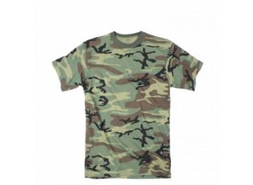 Футболка Rothco Woodland Camo Extra Long Length T-Shirt